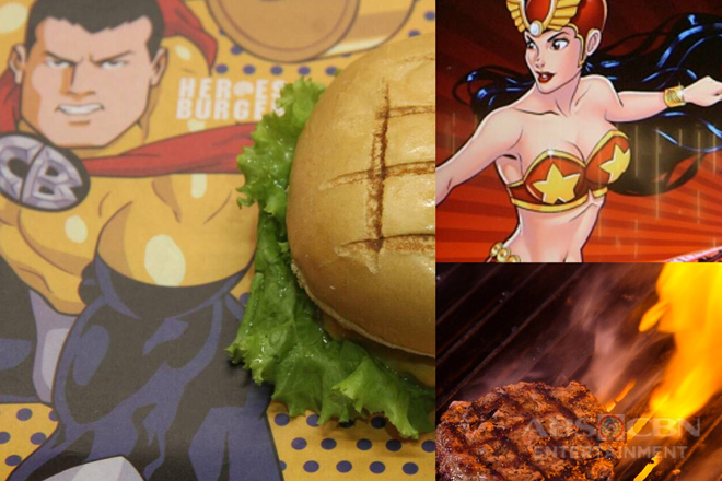 """Try the new Pinoy Komiks-themed organic """"Heroes Burger"""" at ABS-CBN Studio XP"""
