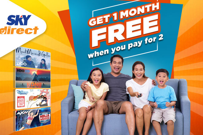 SKYdirect rewards prepaid subs with free one month TV load