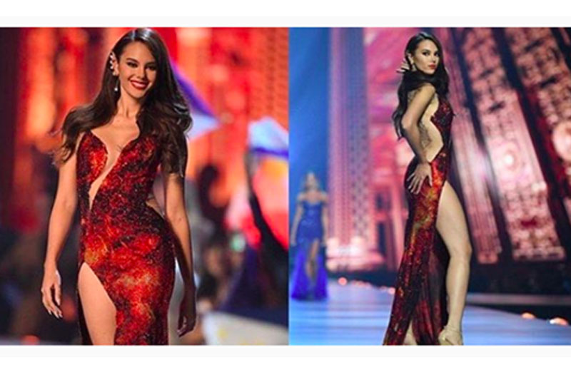 LOOK Catriona s Gown that Wowed the Whole Universe 1