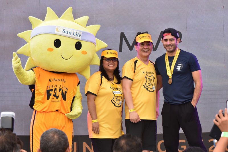 Piolo Pascual Gerald Anderson and other Star Magic celebrities talk health and fitness at Sun Vs Stars Sportsfest 14
