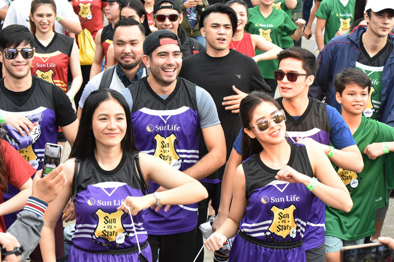 Piolo Pascual Gerald Anderson and other Star Magic celebrities talk health and fitness at Sun Vs Stars Sportsfest 2
