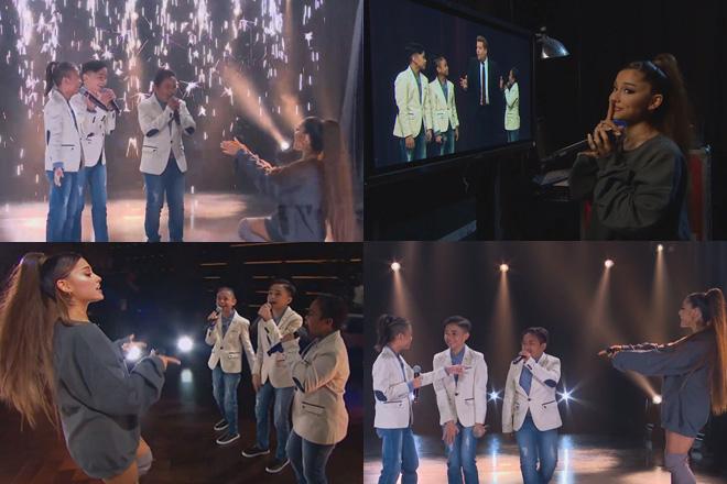 TNT Boys, sinropresa at nakipag-duet kay Ariana Grande sa show ni James Corden