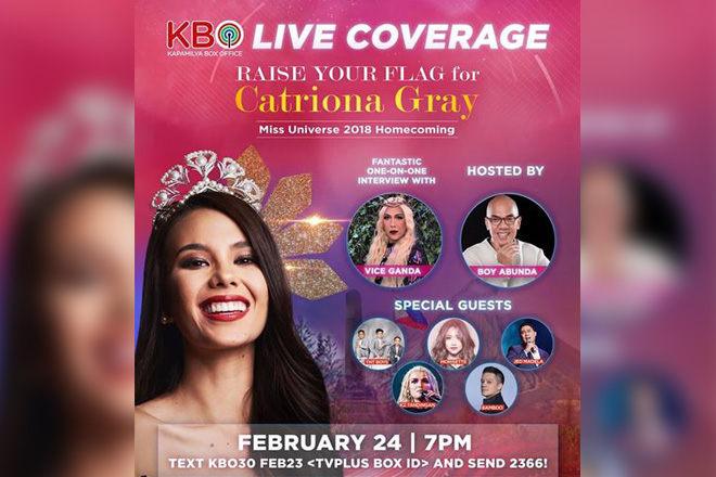 Catriona's homecoming concert airs on KBO