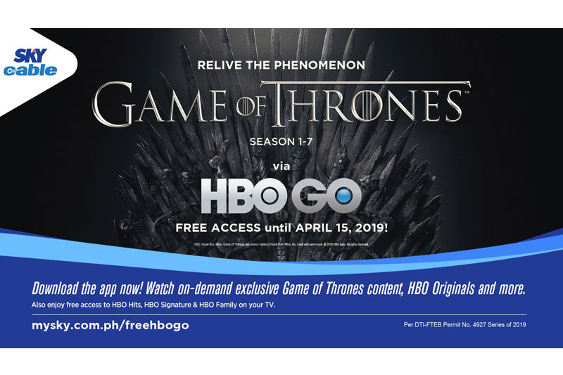 What time can you watch the new game of thrones on hbo go