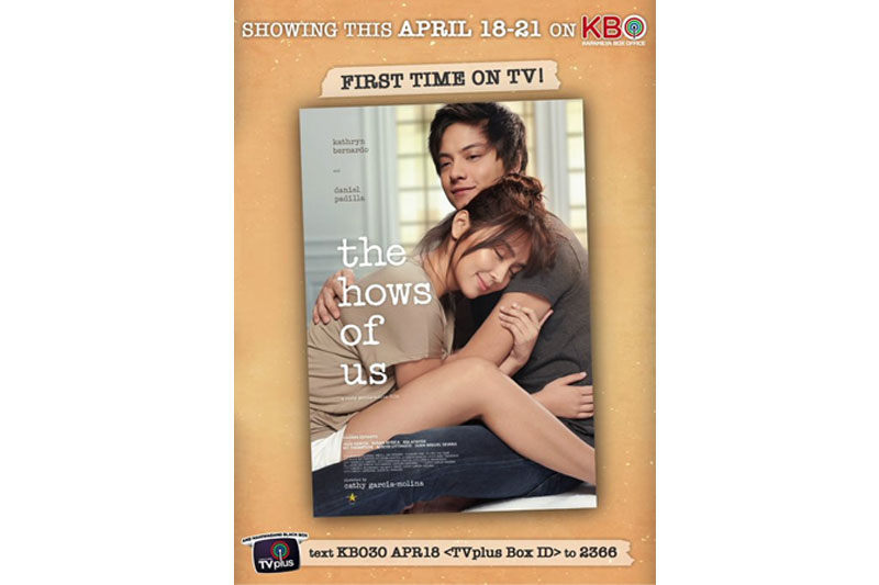 Philippines highest grossing film The Hows of Us premieres on KBO 1