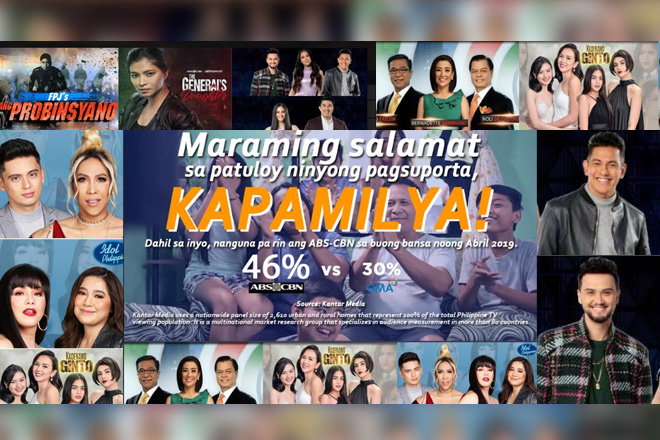 ABS-CBN still top choice of viewers in April