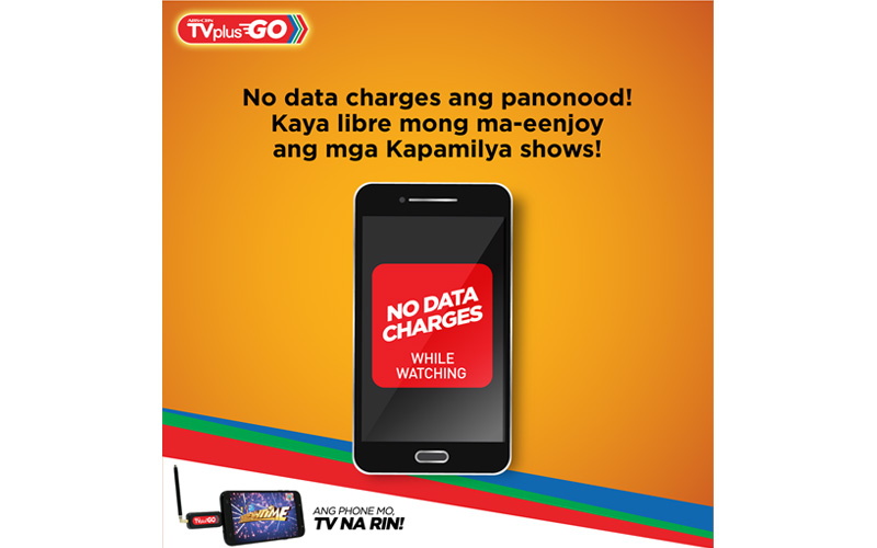 Data free TV viewing on smartphones now possible with ABS CBN TVplus Go 1