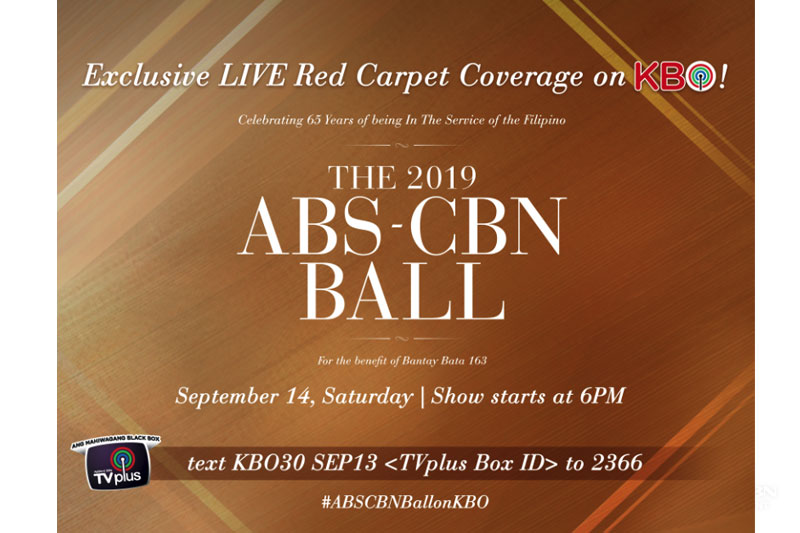 ABS CBN Ball 2019 airs live on KBO 1