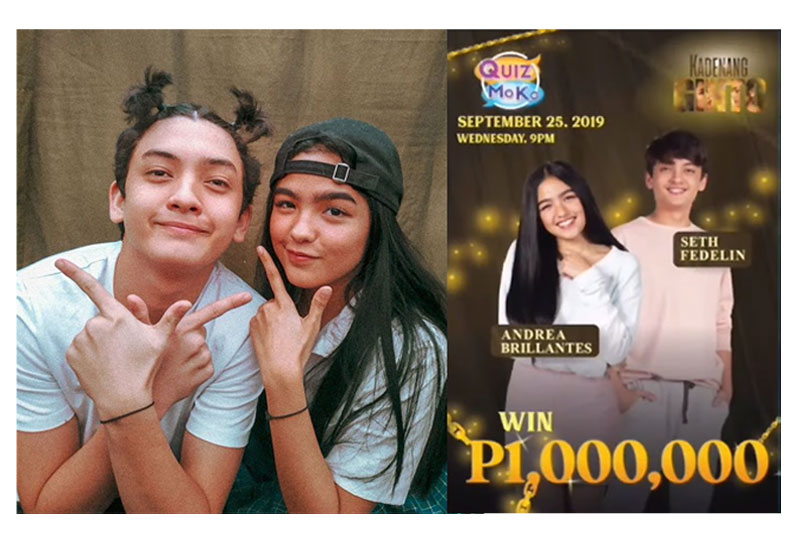 Andrea Brillantes and Seth Fedelin to give away P1 million for Quiz Mo Ko trivia geeks  1