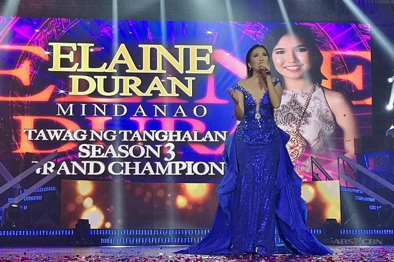 Elaine of Butuan emerges as newest Tawag ng Tanghalan Grand Champion 1