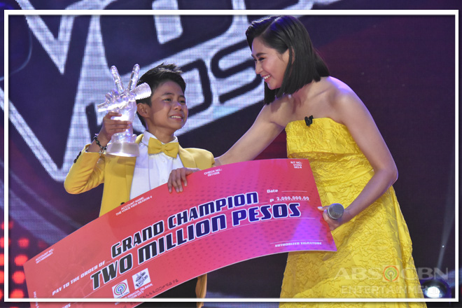 Vanjoss of Team Sarah wins 4th season of The Voice Kids