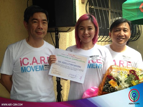 Yeng Constantino serenades the kids at iC.A.R.E. Philippines