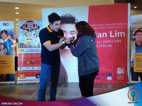 PHOTOS: Xian Lim celebrates Christmas with Loyal Fans