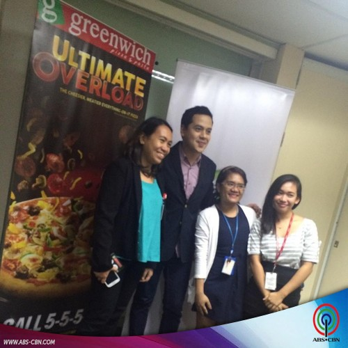 John Lloyd meets and greets his supporters at the Greenwich event