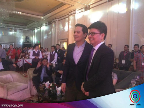 John Lloyd Cruz attends corporate Christmas parties