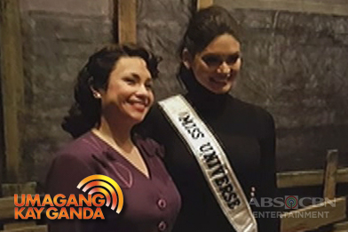 Miss Universe Pia Wurtzbach at Lea Salonga, nagkita na sa New York