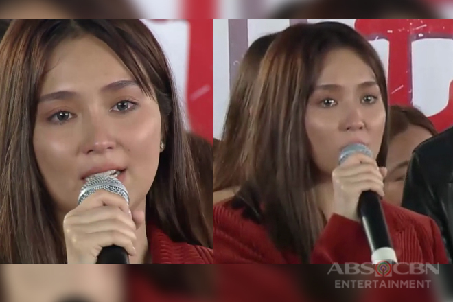 Kathryn Bernardo, naging emosyonal sa kanyang speech sa victory party ng 'The Hows Of Us'