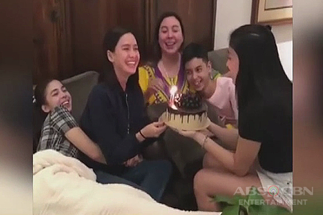 Erich Gonzales, binigyan ng maagang birthday surprise ng Barretto Family