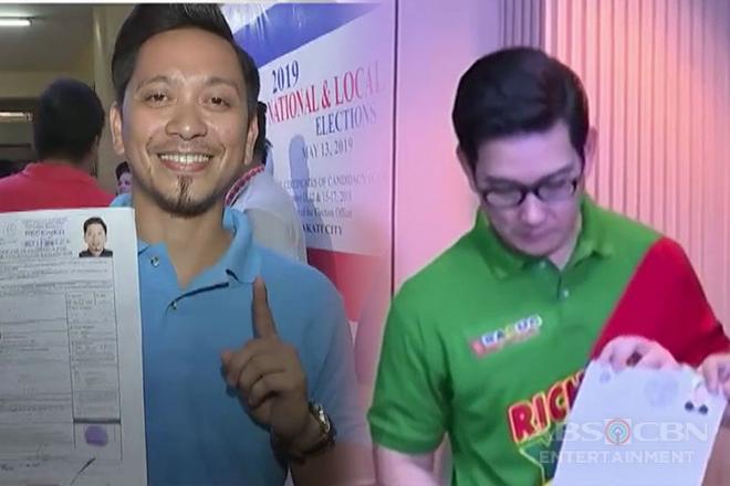 Kumakandidatong celebrities, humabol sa huling araw ng COC filing