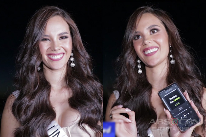 What's on Catriona Gray's phone?