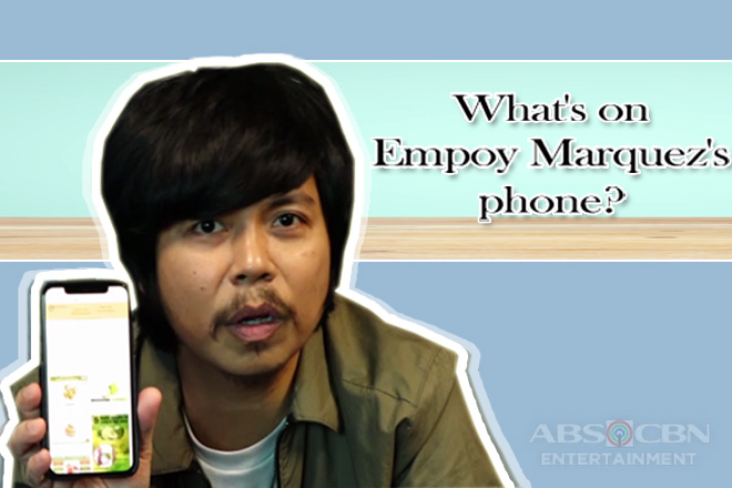 What's on Empoy Marquez's phone?