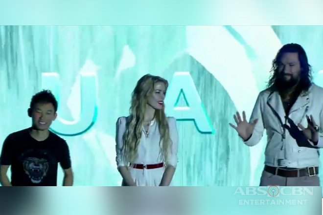 Jason Momoa, Amber Heard at Direk James Wan, dumalo sa Asian premiere ng Aquaman
