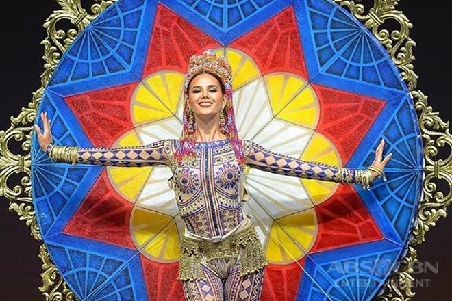 Catriona Gray, inirampa ang national costume na may temang Luzon, Visayas, at Mindanao