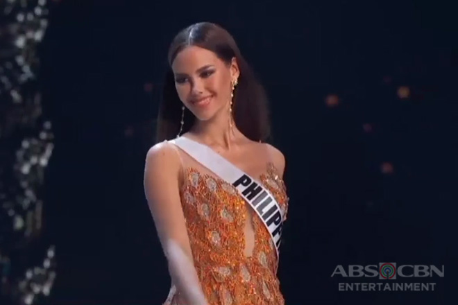 Evening gown ni Catriona Gray, agaw-pansin sa Miss Universe 2018 Preliminary Competition