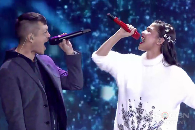 "Family Is Love: Anne Curtis and Bamboo sing ""Baby It's Cold Outside"""