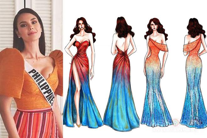 Mga gown na posibleng isuot ni Catriona Gray sa coronation ng Miss Universe, ipinasilip