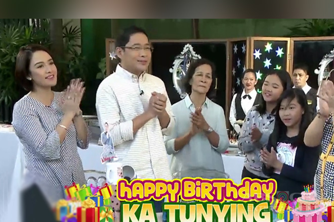 Tunying celebrates birthday with wife Rossel and kids on UKG