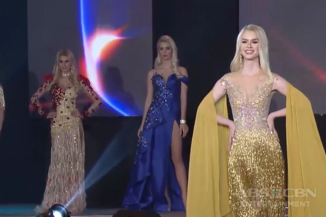 Evening gowns ng Pinoy designers, ibinida sa kompetisyon sa Ms. Intercontinental