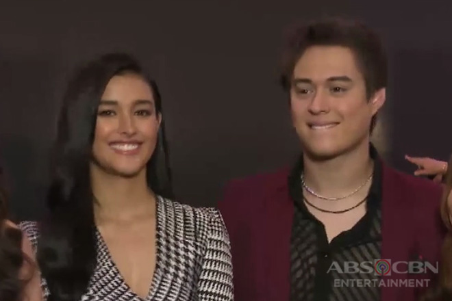 "LizQuen, pinangunahan ang black carpet premiere ng ""Alone/Together"""