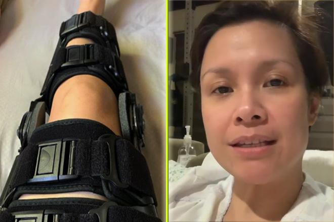Lea Salonga, patuloy na nagpapagaling sa kanyang leg injury