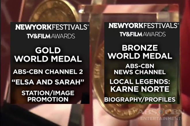 ABS-CBN, nag-uwi ng gold at bronze medal award sa 2019 New York Film Festivals TV and Film Awards