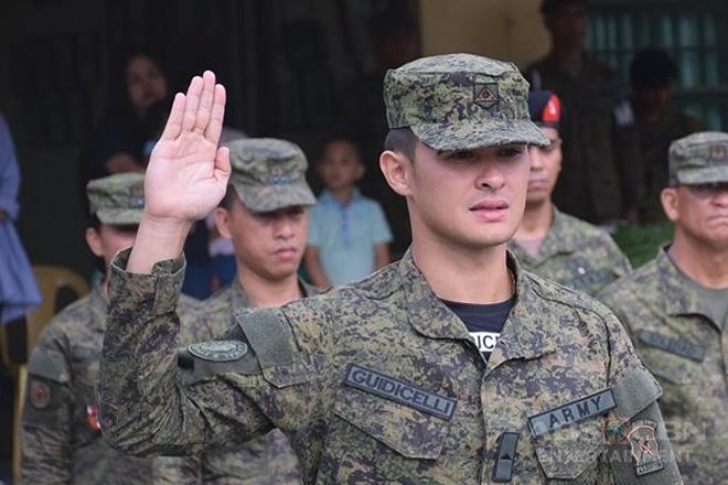 Matteo Guidicelli, sumali sa Philippine Army