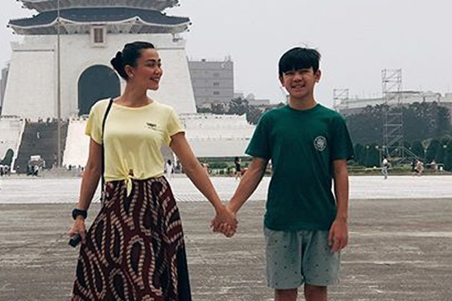Jodi Sta. Maria at anak na si Thirdy, nag-bonding sa Taiwan