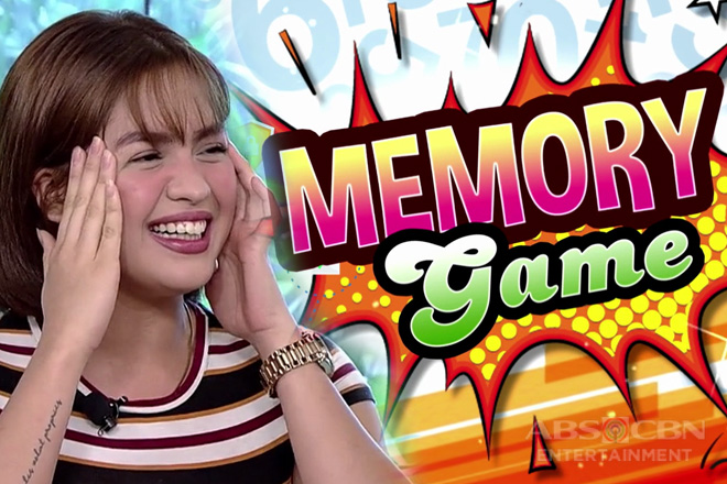 Memory game with Jane Oineza, live!