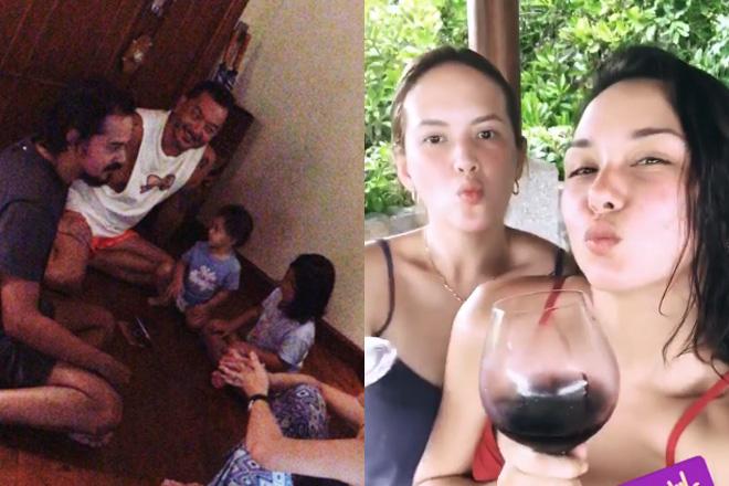 Beauty Gonzalez, nagbakasyos sa beach kasama si Ellen Adarna at John Lloyd Cruz